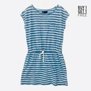 Gap Girls Nautical Blue / White Stripe Dress M/8